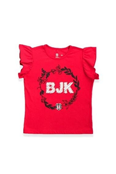 Beşiktaş Lisanslı Kız Çocuk Kısa Kollulu T-Shirt  Kırmızı